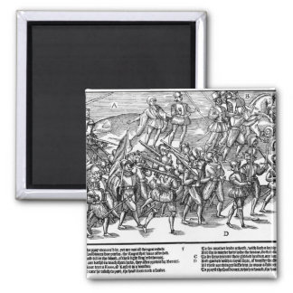 Soldiers Capture the Thieving Wood Kerne 2 Inch Square Magnet