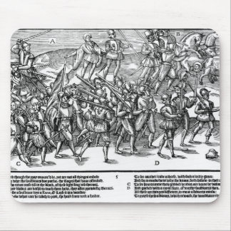 Soldiers Capture the Thieving Wood Kerne Mouse Pad