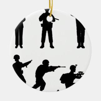 Soldiers Ceramic Ornament