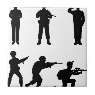 Soldiers Ceramic Tile