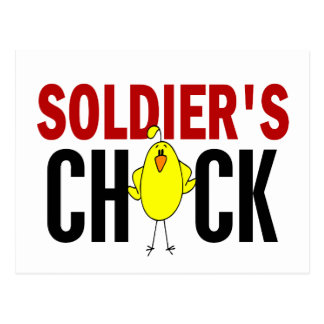 Soldier's Chick Postcard