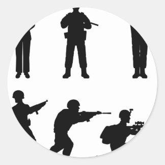 Soldiers Classic Round Sticker
