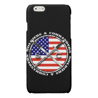 Soldiers & Commanders Circular Logo iPhone 6 Black Glossy iPhone 6 Case