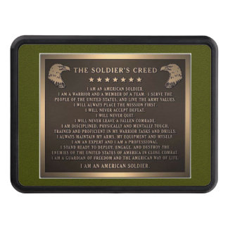 Soldier's Creed Hitch Cover