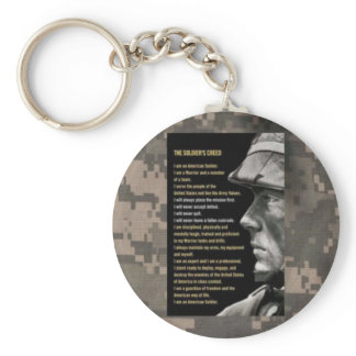 soldiers creed keychain