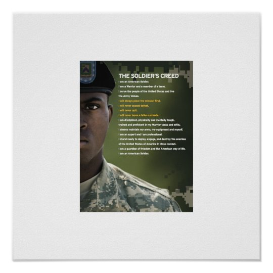 Soldiers Creed Poster 23x23