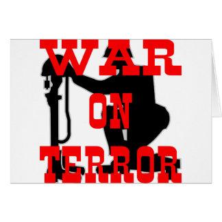Soldiers Cross 9-11 War On Terror Card