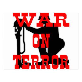 Soldiers Cross 9-11 War On Terror Postcard