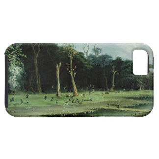 Soldiers Cutting Branches by a River (oil on canva iPhone SE/5/5s Case