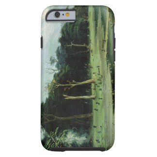 Soldiers Cutting Branches by a River (oil on canva Tough iPhone 6 Case