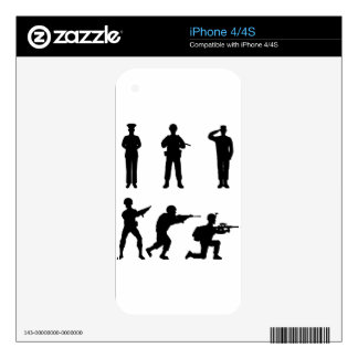 Soldiers Decal For iPhone 4