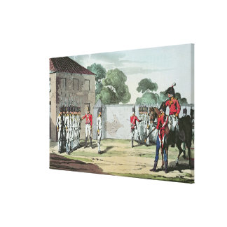 Soldiers Drilling, 1807 Canvas Print