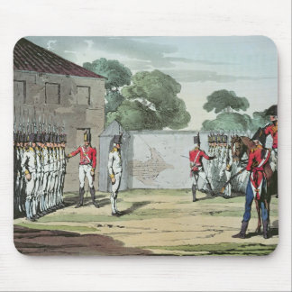 Soldiers Drilling, 1807 Mouse Pad
