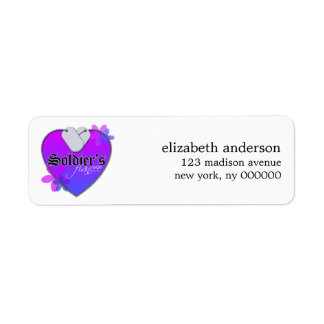 Soldiers Fiancee Address Labels