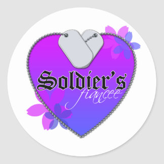 Soldier's Fiancee Heart Shaped Military Dog Tags