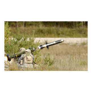 soldiers firing an FGM-148 Javelin Photo Print