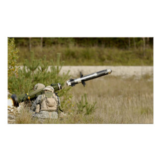 soldiers firing an FGM-148 Javelin Poster