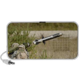 soldiers firing an FGM-148 Javelin Travel Speakers