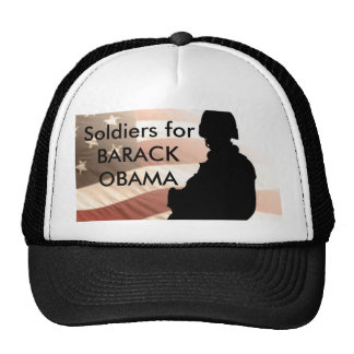 Soldiers for BARACK OBAMA Mesh Hat