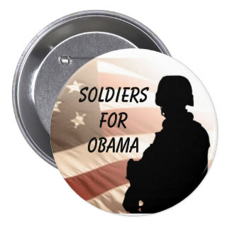 Soldiers For OBAMA Pins