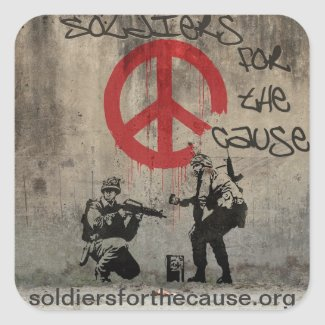 Soldiers for the Cause Stickers sticker