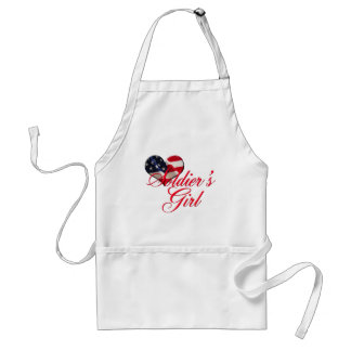 soldier's girl adult apron