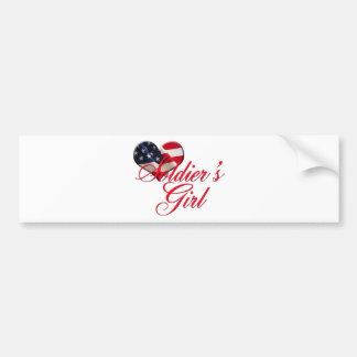 soldier's girl bumper sticker