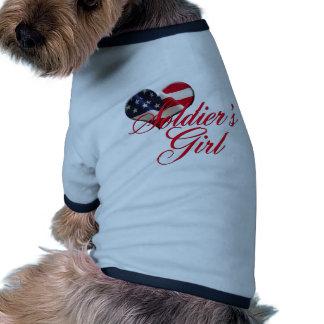 soldier's girl dog shirt