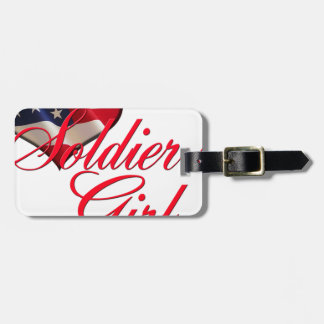 soldier's girl luggage tag