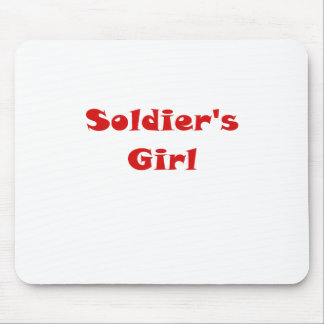 Soldiers Girl Mouse Pad