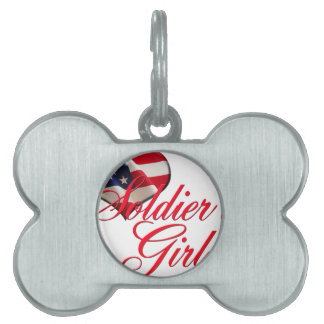 soldier's girl pet ID tag
