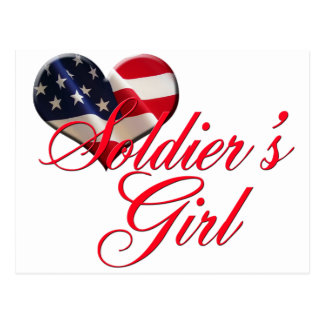 soldier's girl postcard
