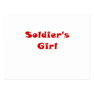 Soldiers Girl Postcard