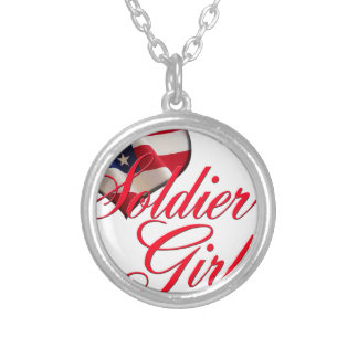 soldier's girl silver plated necklace