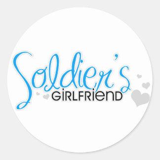Soldier's Girlfriend (Bright Blue) Classic Round Sticker