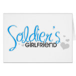 Soldier's Girlfriend (Bright Blue) Greeting Cards