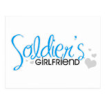 Soldier's Girlfriend (Bright Blue) Post Card