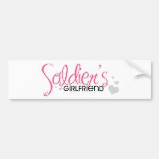 Soldier's Girlfriend (Pink) Bumper Sticker