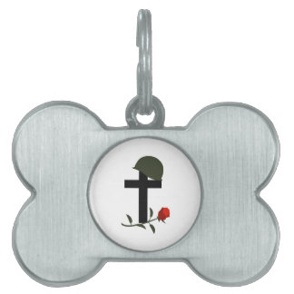 SOLDIERS GRAVE PET ID TAGS