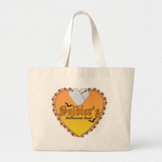 Soldier's Halloween Treat Large Tote Bag