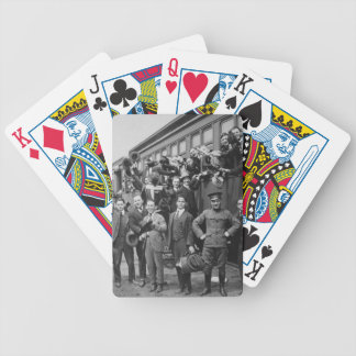 Soldiers Headed to Camp Upton During World War I Bicycle Playing Cards
