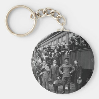 Soldiers Headed to Camp Upton During World War I Keychain