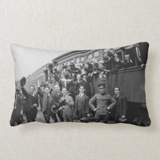 Soldiers Headed to Camp Upton During World War I Throw Pillow