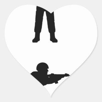 Soldiers Heart Sticker