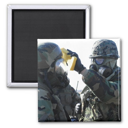 Soldiers help each other magnet