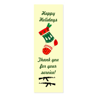 Soldiers Holiday Bookmark Business Card Template