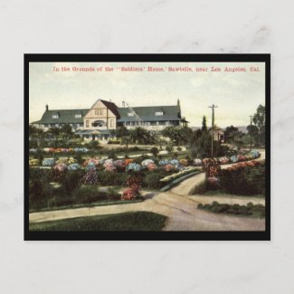 Soldiers Home, Los Angeles, California Vintage postcard