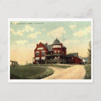 Soldiers Home, Tilton, NH 1915 Vintage postcard
