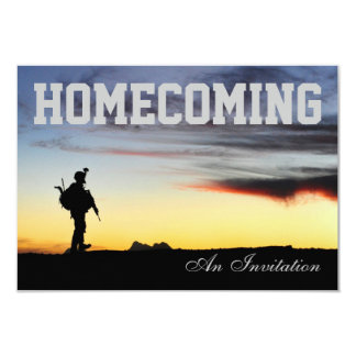 Soldiers Homecoming Invitation