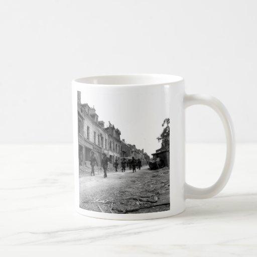 Soldiers in Caen Coffee Mug
